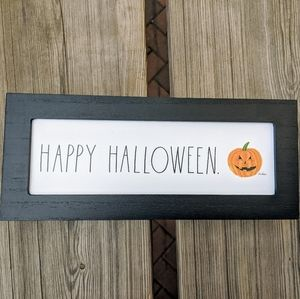 RAE DUNN Happy Halloween Wooden Sign NWT